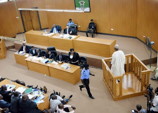 Bukola Saraki at the Code of Conduct Tribunal