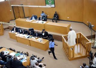 Bukola Saraki at the Code of Conduct Tribunal