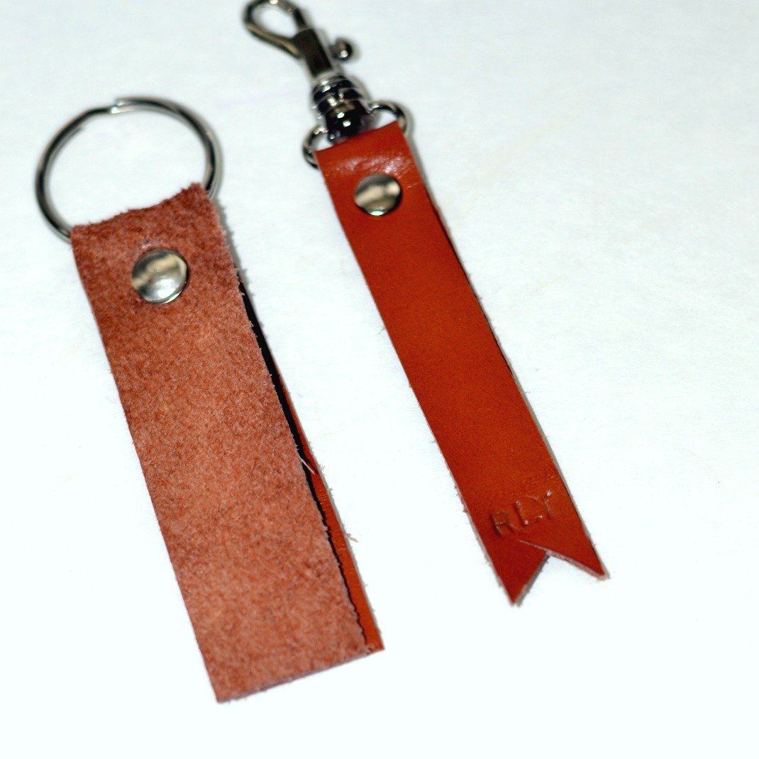 Easy to Make Leather Key Chain | <datFeata:blog title