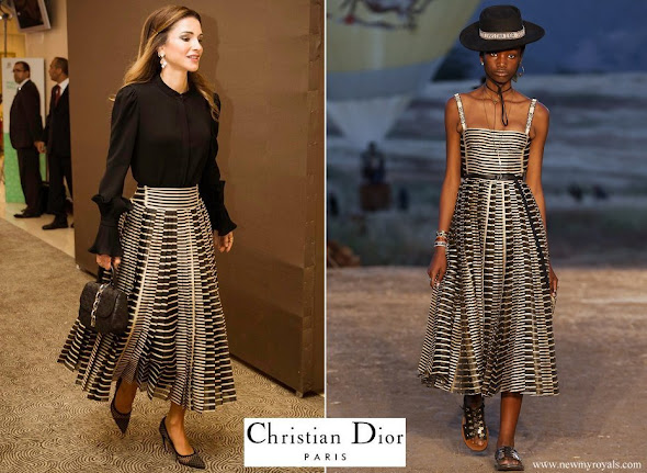 Queen Rania wore Dior Skirt from Resort 2018 Collection