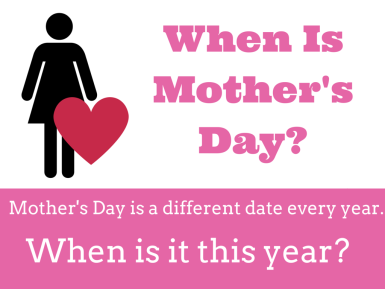 When is Mothers Day in 2018