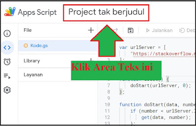 merubah nama project google script