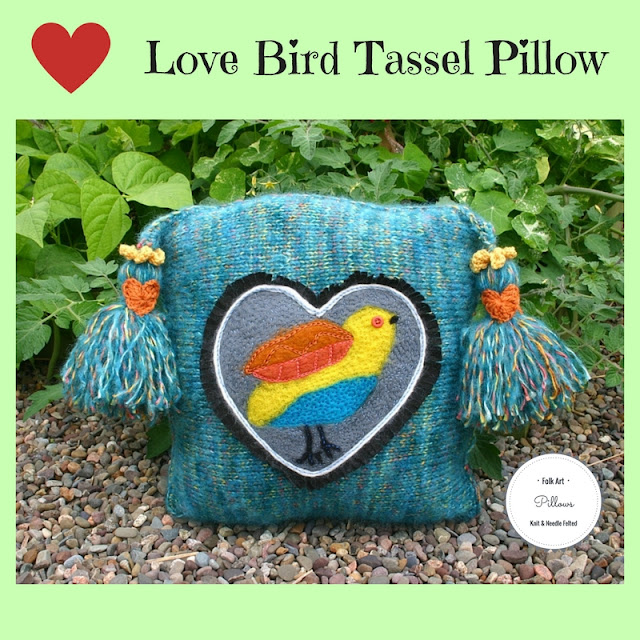 Love Bird Tassel Pillow by Minaz Jantz