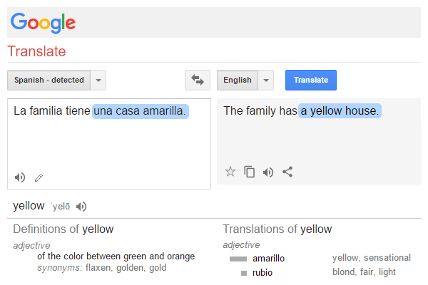 Learn These Words First: Google Translate