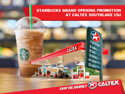 Starbucks Caltex Southlake USJ Frappuccino Buy 1 Free 1 Discount Promo