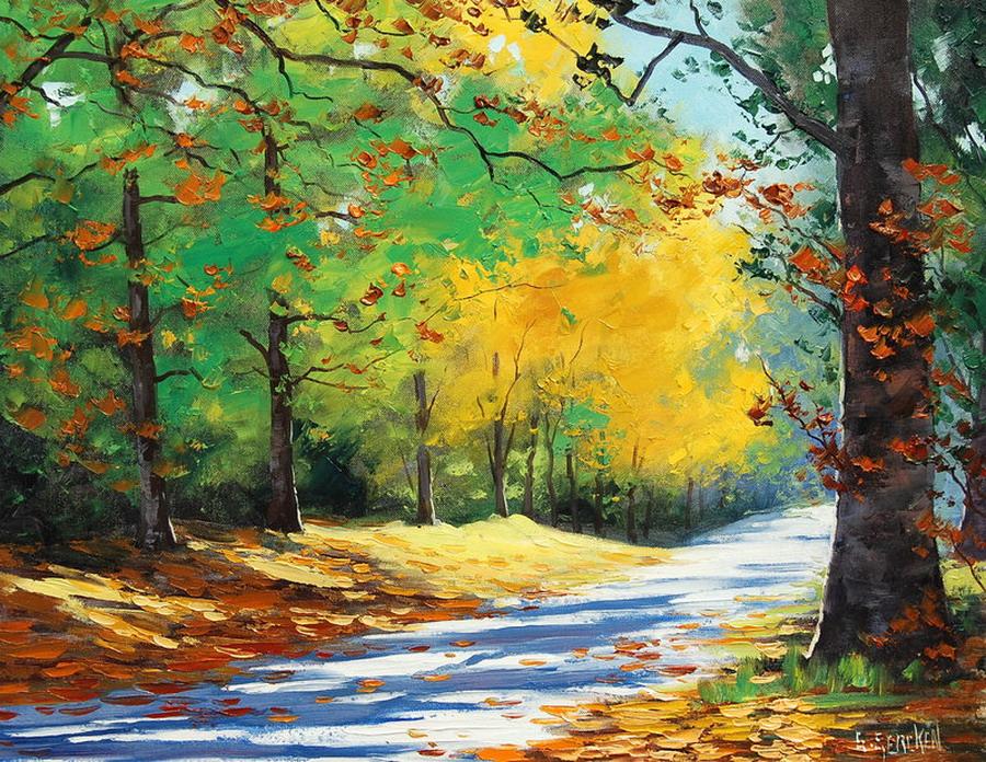 Cuadros pinturas oleos modernos y coloridos paisajes - Oleos de jardines ...