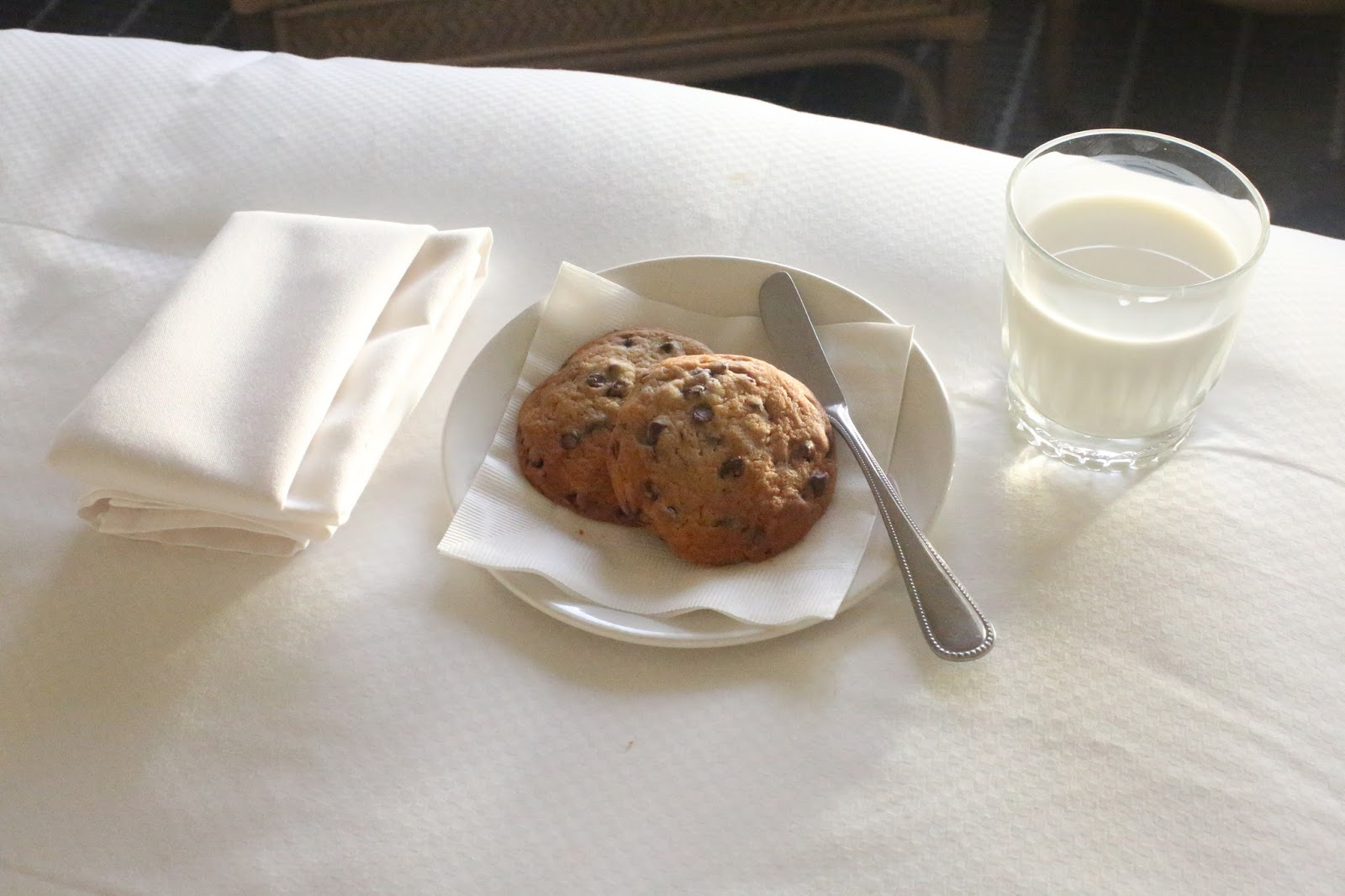 hot cookies and milk