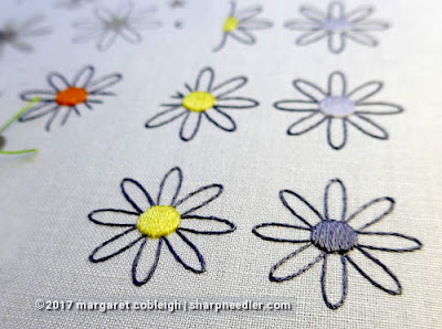 SFSNAD Flower Power Challenge: Daisies with filled centres