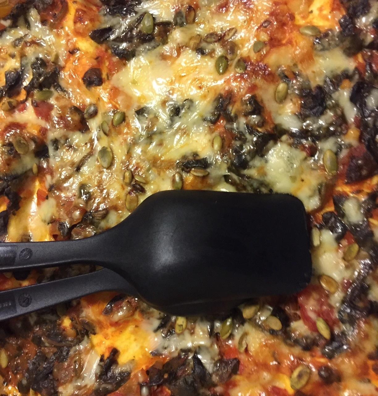 vegetarisk lasagne halloumi