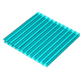 tấm lợp polycarbonate màu xanh da trời rỗng ruột