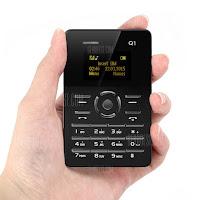 AIEK Q1 Ultra-thin Card Phone - BLACK