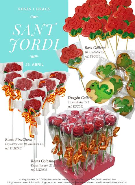 Sant Jordi - Roses i dracs - Comercial H. Martín sa