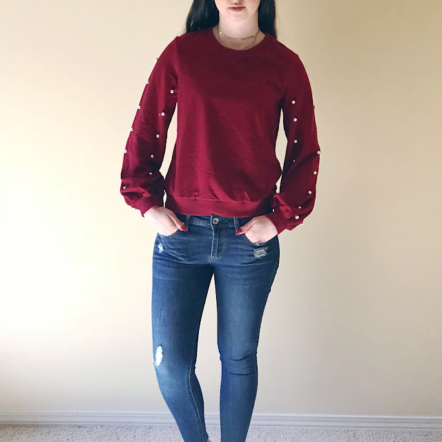 pearl pullover from SHEIN