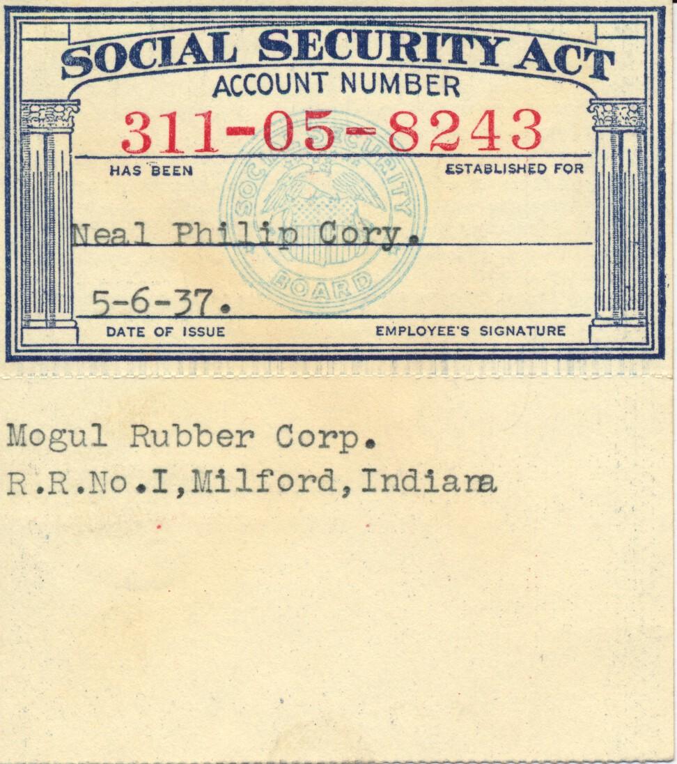 lugubrious drollery my dad's social security card
