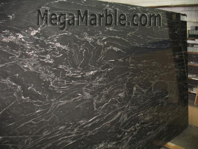 Black Storm Granite Slabs For Countertops