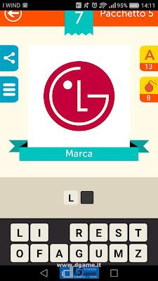 Iconica Italia Pop Logo Quiz soluzione pacchetto 5 livelli 7-75