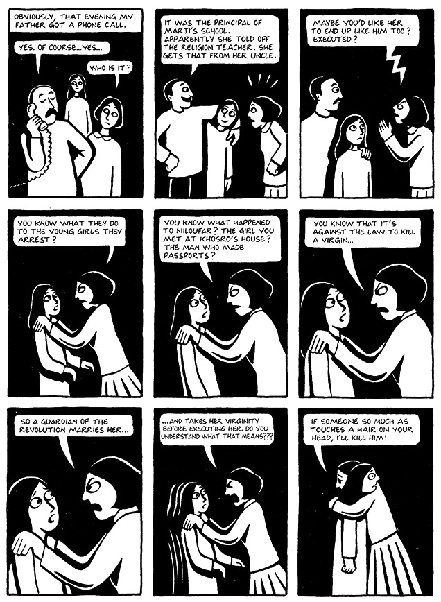 Read Chapter 19 - The Dowry, page 143, from Marjane Satrapi's Persepolis 1 - The Story of a Childhood