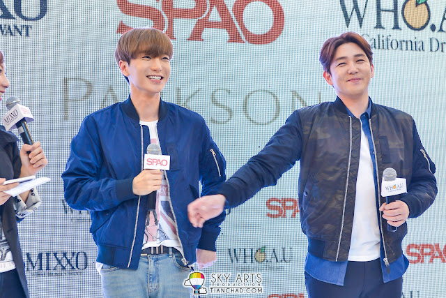 KangIn want to hit LeeTeuk's tummy because something that he said