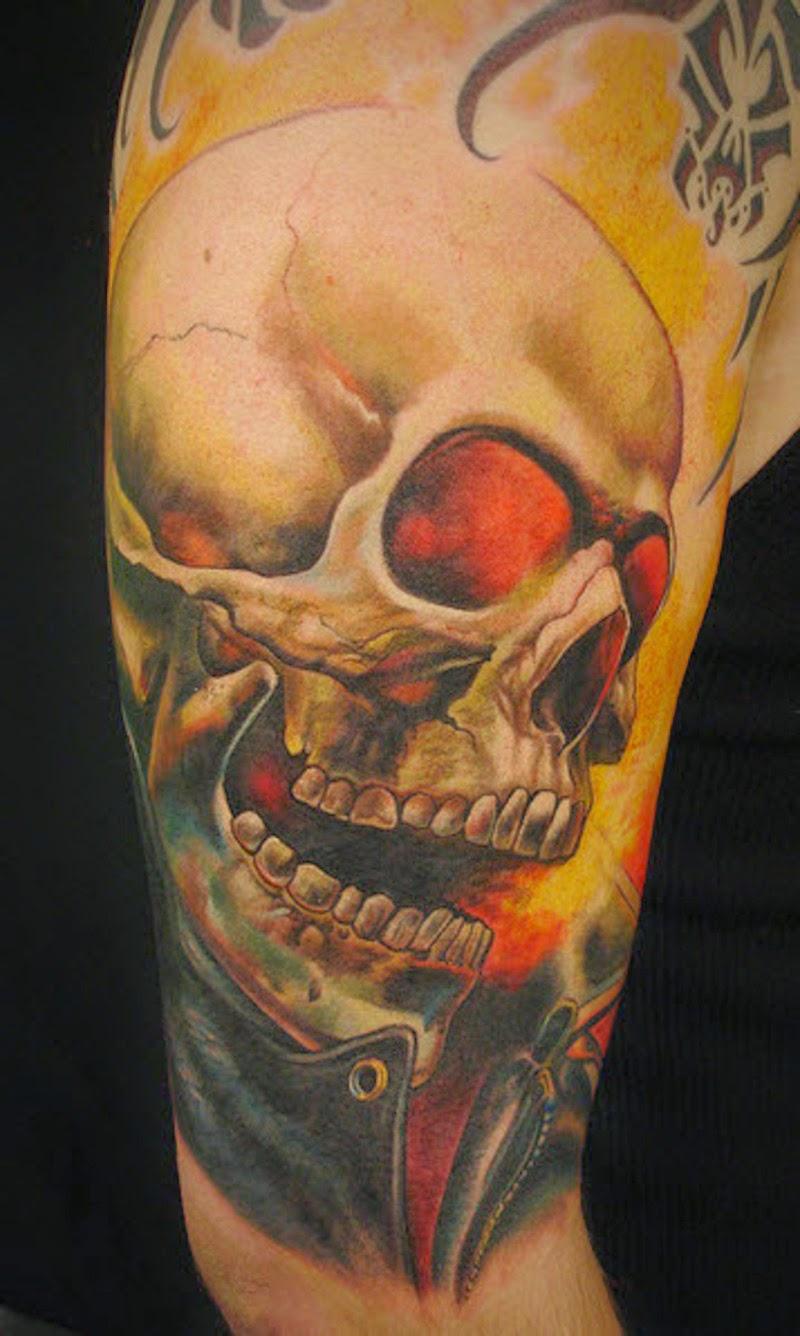 tatuagem fantasma caveira motoqueiro tattoo google moto tatuagens por twitter