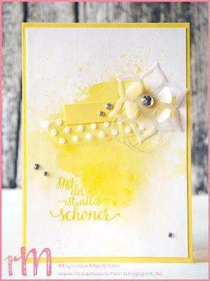 Stampin' Up! rosa Mädchen Kulmbach: Stamp Impressions Blog Hop: Monochrome Magic: Karten in der Farbe Ananas mit dem Set Orientpalast
