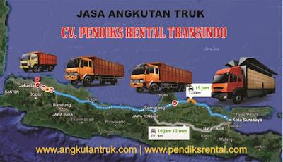 Harga Sewa Truk Surabaya Jakarta