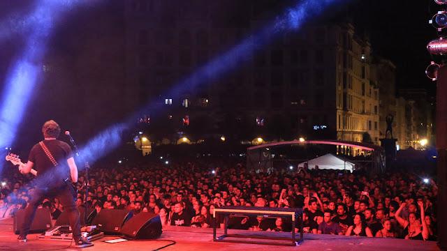 Concierto en Herriko Plaza durante las fiestas de Barakaldo