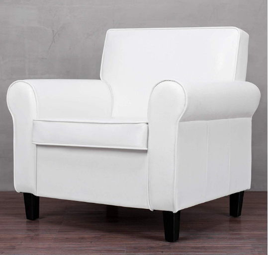 Cloud Mountain Accent Chair Modern Upholstered Leisure Arm Chair