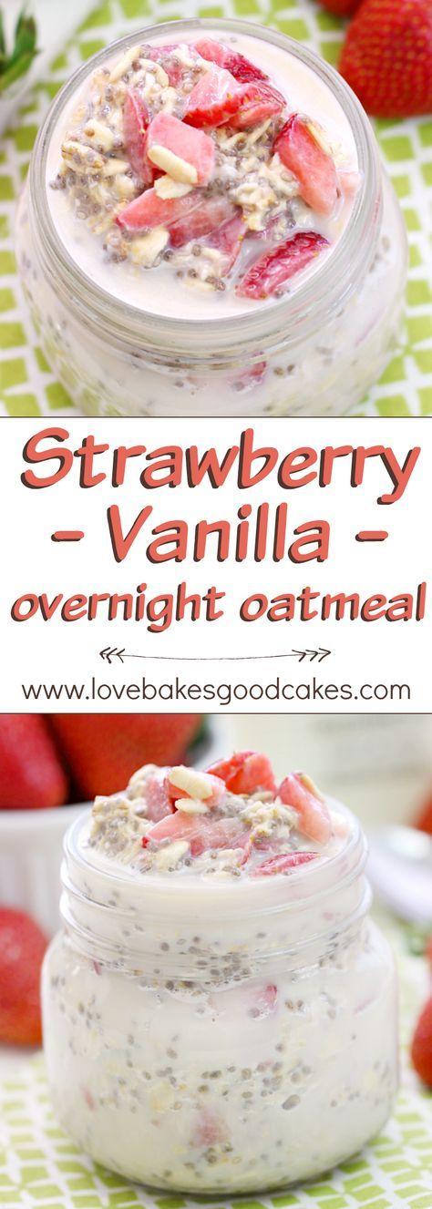 Strawberry Vanilla Overnight Oatmeal
