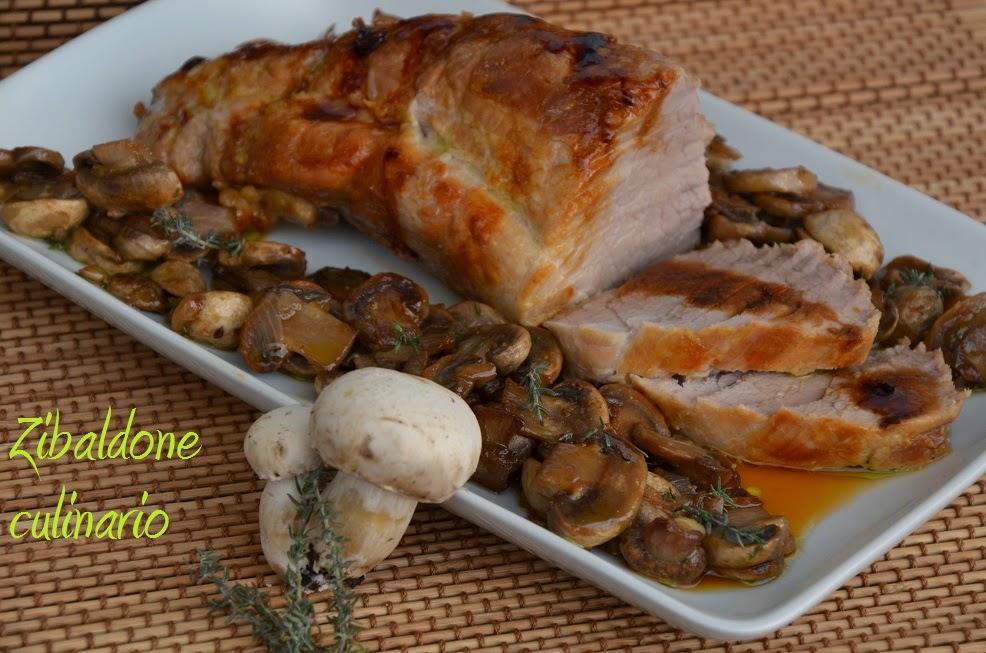 Zibaldone culinario filetto di maiale arrosto con funghi for Arrosto maiale