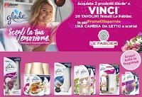 Logo Concorso ''Vinci il design con Glade '': in palio 20 Tavolini e 1 camera da letto Le Fablier