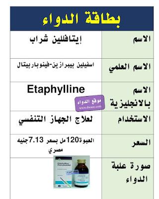 دواء ايافللين شراب لعلاج الكحة و موسع للشعب