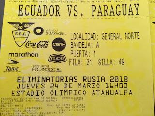 entradas ecuador vs paraguay