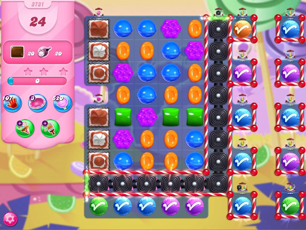 Candy Crush Saga level 3731