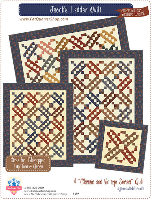 Free Quilt Pattern For Jacob S Ladder : Fat Quarter Shop s Jolly Jabber: Classic and Vintage Series: Jacob s Ladder