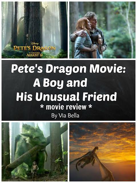 Pete's Dragon Movie: A Boy and His Unusual Friend, Pete's Dragon, Classic movies, Family Movies, Summer 2016, Movie Review, Disney, Via Bella