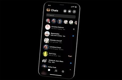 فيس بوك تطرح ماسنجر جديد معاد تصميمه ويتميز بالوضع المظلم.