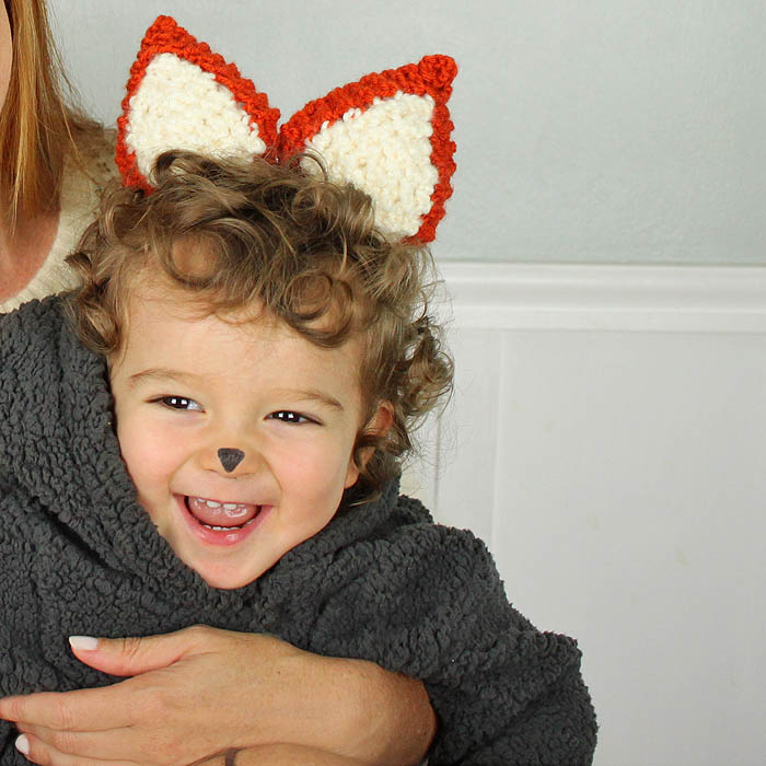 Halloween Fox Ears [knitting pattern] - Gina Michele
