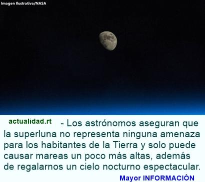 Superluna decorará el cielo nocturno este domingo, 16 de octubre
