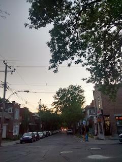 Coucher de soleil Villeray Montréal