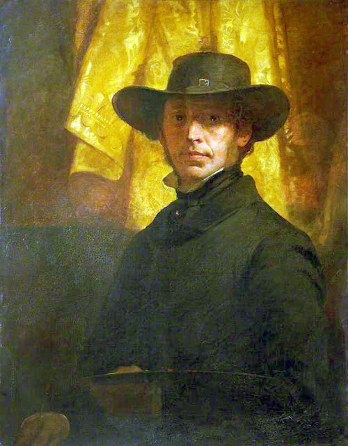 John MacLaren Barclay, Self Portrait, Portraits of Painters, Fine arts, John MacLaren, Portraits of painters blog, Paintings of John MacLaren, Painter John MacLaren