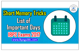 Short Memory Tricks – List of Important Days in the Month of January