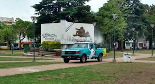 Nueva etapa de fumigaciones en distintos espacios de la ciudad