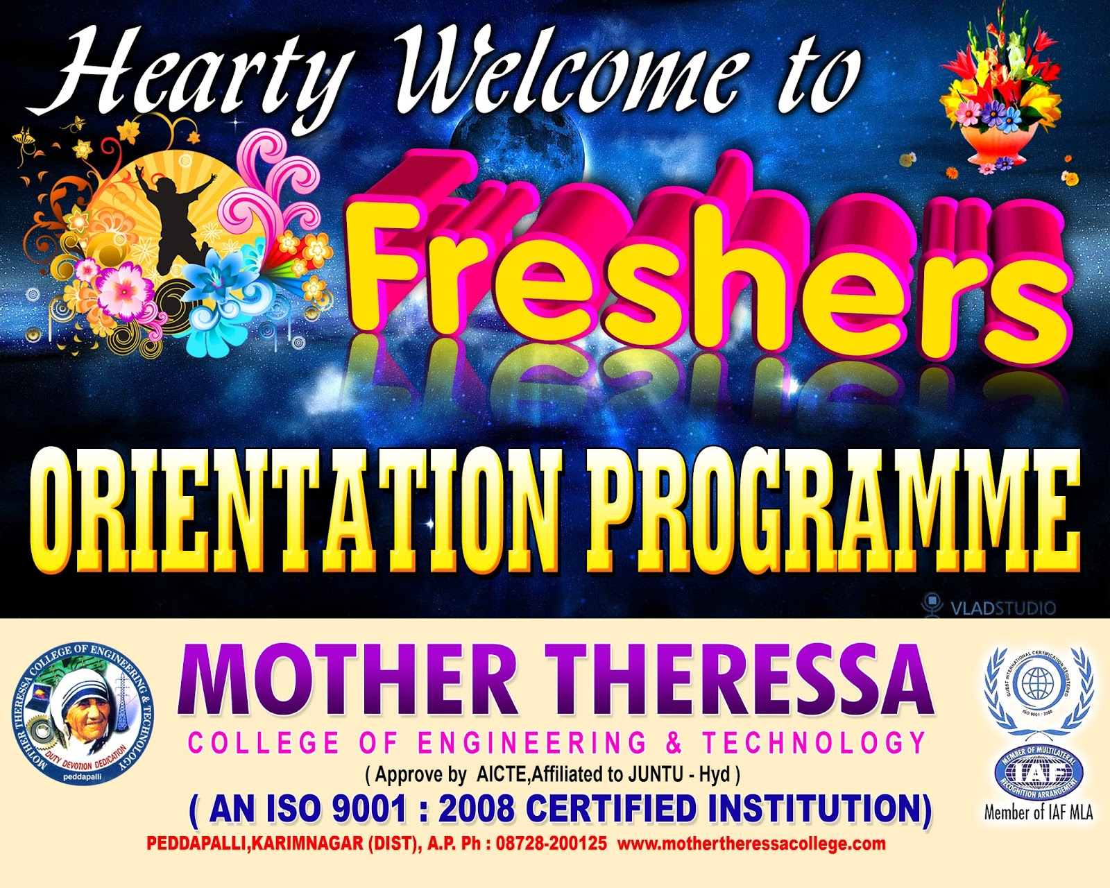 Freshers Day Flex Banner Psd Template Free Downloads