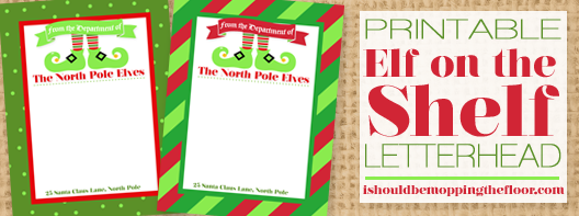 Free Printable Elf on the Shelf Letterhead | Instant Download | Two Designs Available