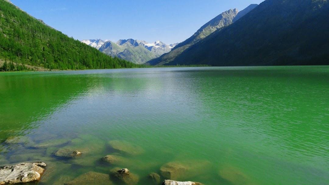 green water lake hd wallpaper