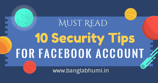 top 10 security tips for your facebook account