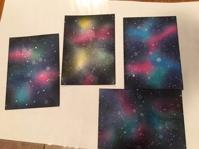 Galaxy backgrounds with distress inks