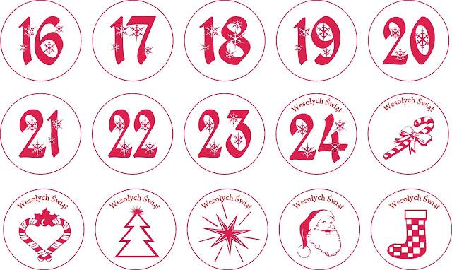 kalendarz adwentowy cyfry darmowe