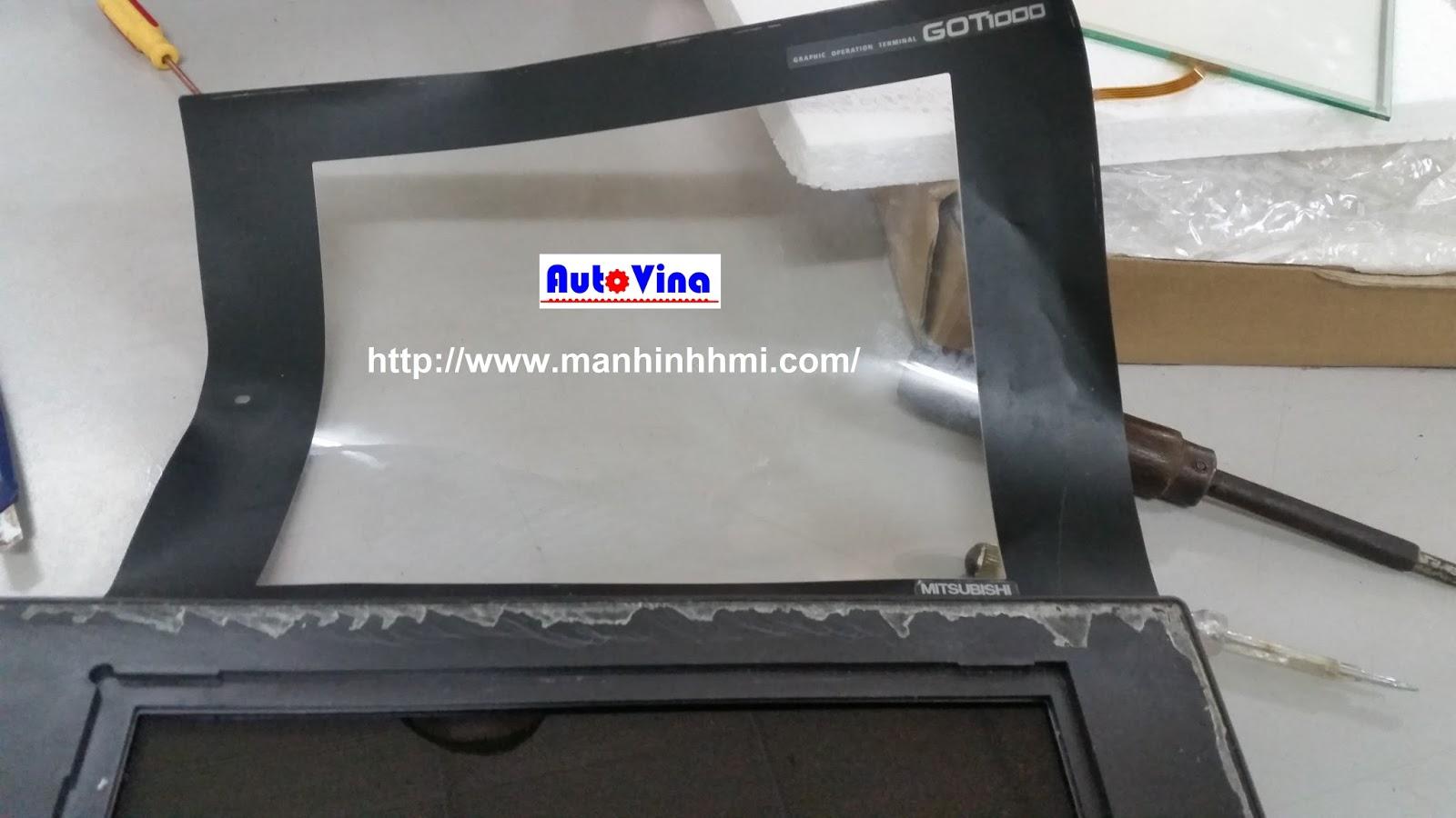 Hướng dẫn thay kính cảm ứng màn hình cảm ứng HMI Mitsubishi GT2175-VNBA