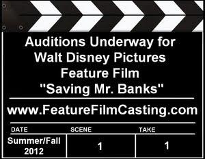 Walt Casting Saving Mr. Banks